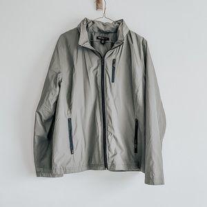 Rain Coat Green Windbreaker XL Zip Jacket